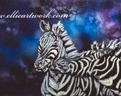 Zebra painting original painting acrylic on canvas