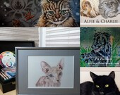 Custom Pet Portrait, Cat, Dog, Hand painted, hand drawn