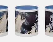 Special edition Wolf Mug from the original artwork hand painted by www.ellieartwork.com