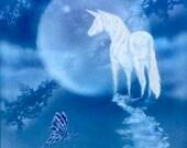 Unicorn painting childrens gift unicorn art