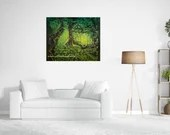 Into the Woods forest painting mystical forest painting