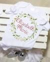 Christmas Wreath Baby Name Onesie Custom Baby Onesie Custom Etsy