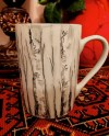 Birch Tree Design Porcelain Coffee Tea Mug Cup Hand Painted Etsy