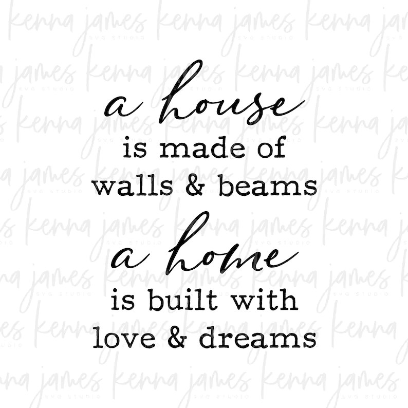 Download A House Is Made Of Walls And Beams A Home Is Built With ...