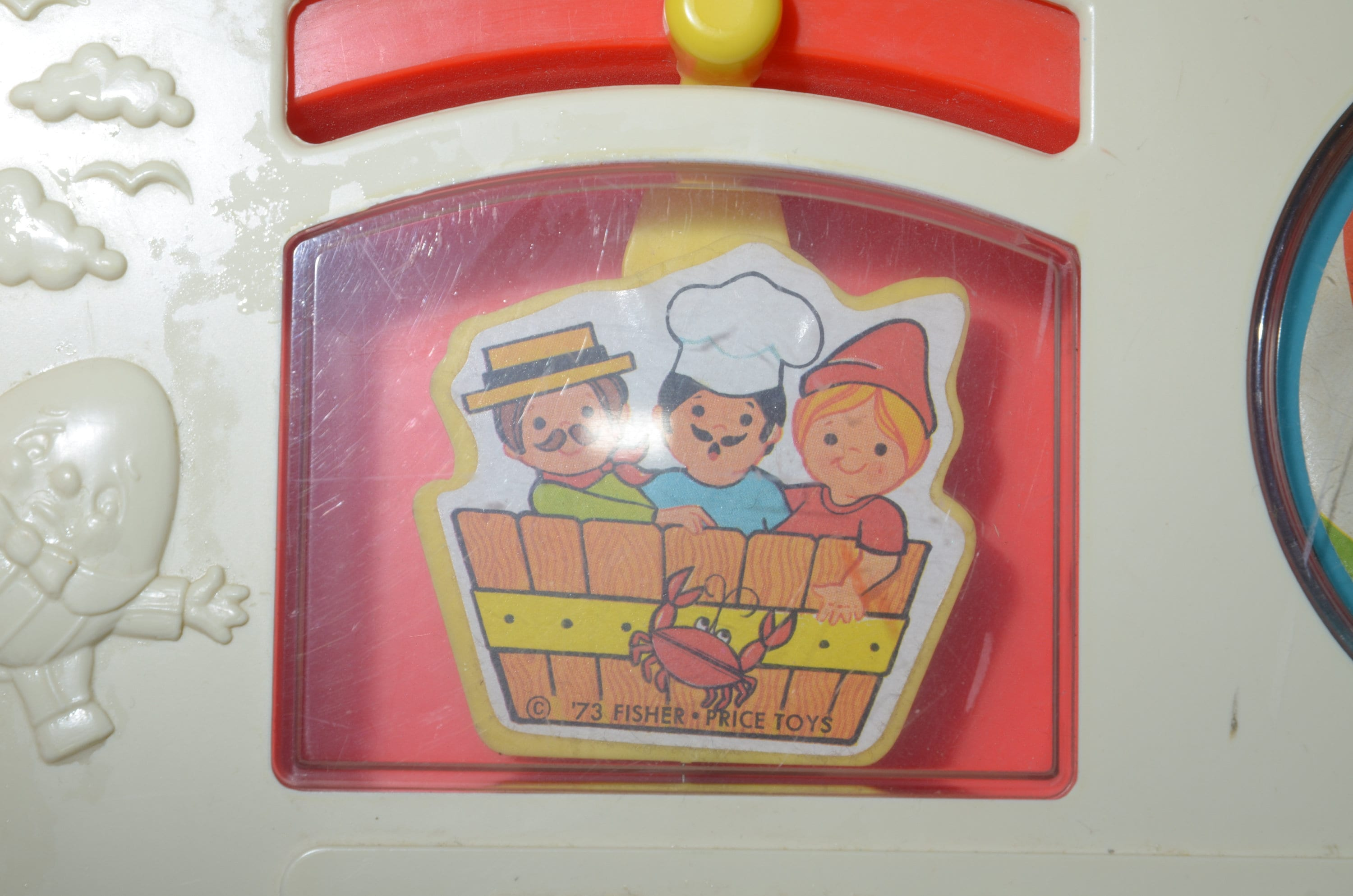 Vintage Fisher Price Activity Center Toy Play Board USA image 2
