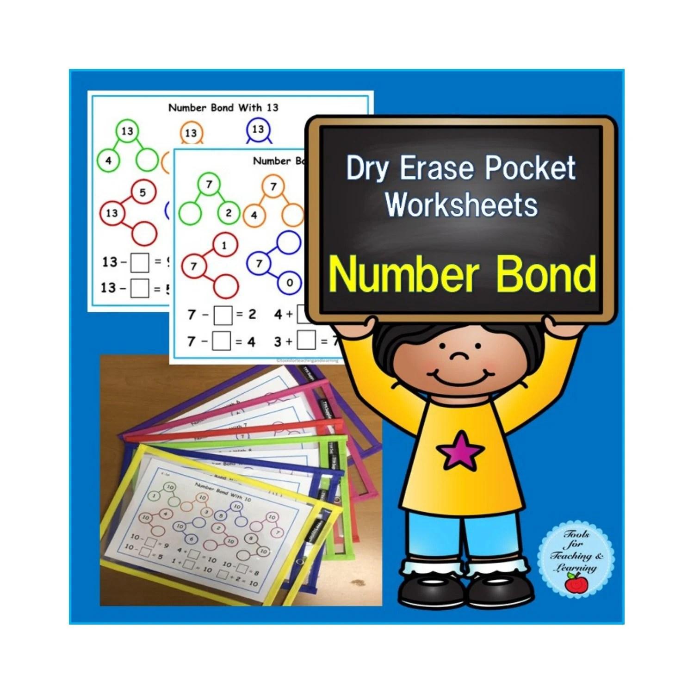 Dry Erase Pocket Worksheets Number Bond With
