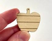 Mini Dollhouse Apple Cutting Board 1:12 Scale - Farmhouse Kitchen Accessory - Lasercut Baltic Birch Wood