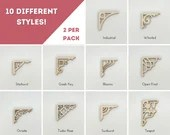 Mini Dollhouse Corbel Brackets - 1:12 Scale Architecture Detail - 10 Styles, 2 per Pack