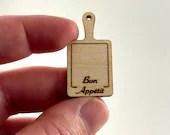 Mini Dollhouse Cheese Board - 1:12 Scale Kitchen Accessory