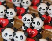 Dragees boxes couples Panda theme China