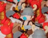 Box dragees babies vikings and dragons