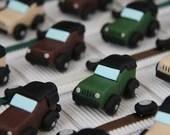Box dragees cars 4 x 4 car theme