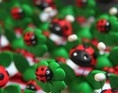 Girls and ladybugs spring theme candy boxes