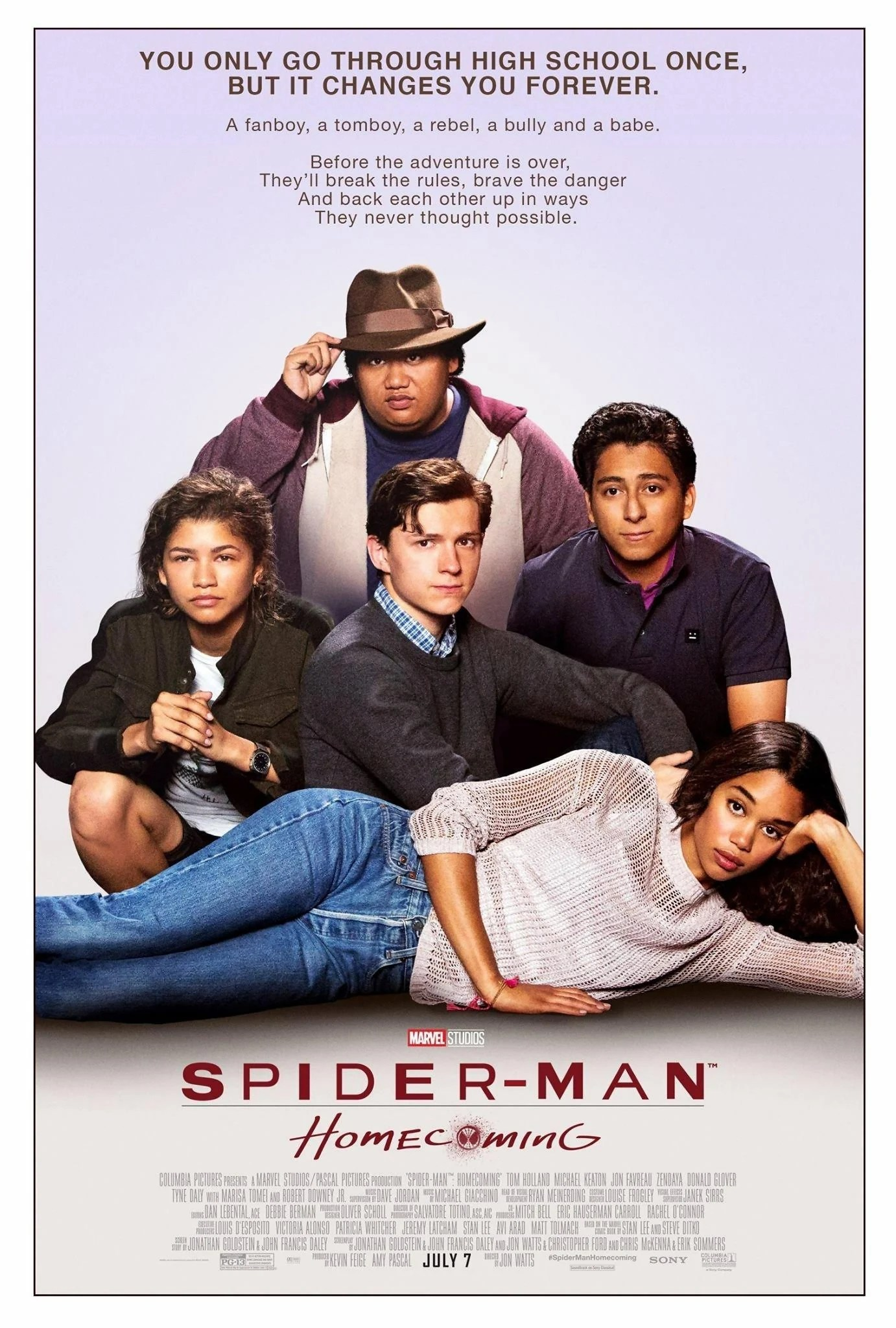 spider man homecoming retro breakfast club parody poster 2017 movie marvel rare print