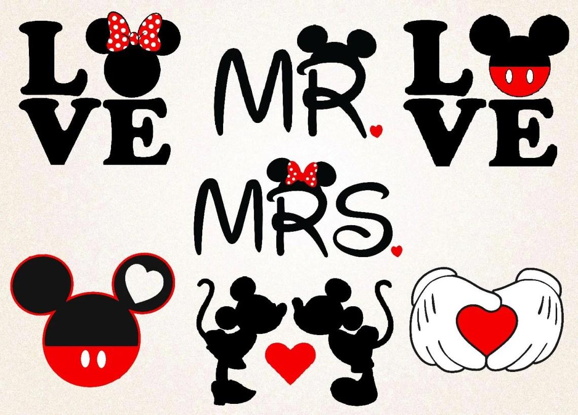 Download Mickey Love SVGPNGeps/mr &mrs mickey minnie/valentines | Etsy