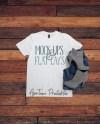Blank White T Shirt Flat Lay Mock Up Digital Clothing Mockup Etsy