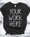 Black Blank Shirt Mock Up Unisex Tshirt Mockup Shirt Flat Etsy