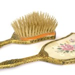 Vintage 1950s Vanity Brush And Mirror Set Gift For Her Retro Etsy
