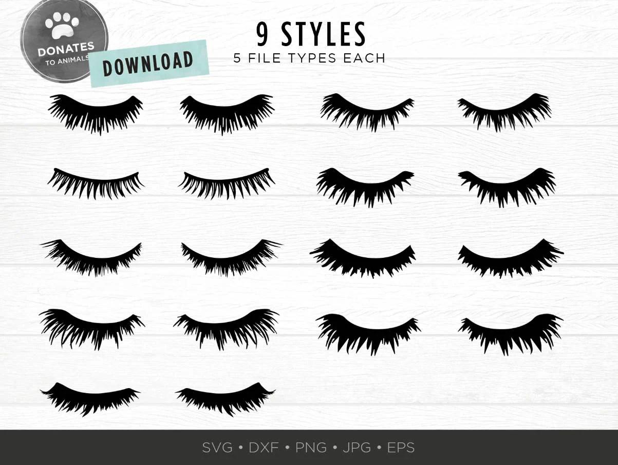 Eyelashes Svg Bundle Lashes Svg Eyes Svg Pack Cut File