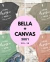 Bella Canvas Bundle Mockups 3001 T Shirt Flat Lay Heather Etsy