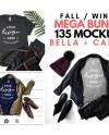 T Shirt Mockup Mega Bundle Fall Autumn Winter Bella Canvas Etsy