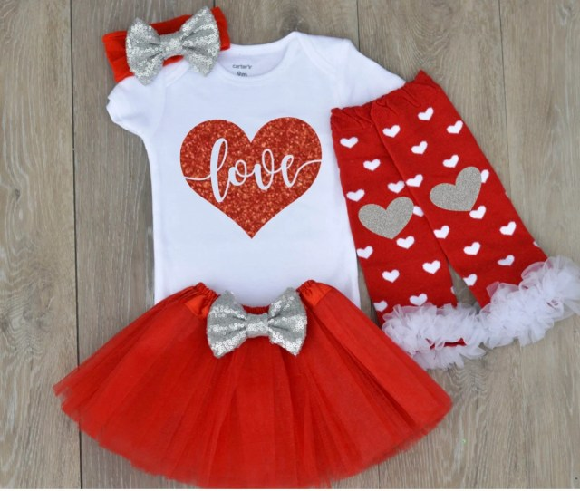 Baby Girl Outfit Baby Valentines Day Outfit Valentines Photo Shoot Prop Little Miss Heartbreaker Baby Infant Valentines