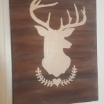 Rustic Dear Head Painting Wall Decor Wall Art Wedding Gift House Warming Hand Painted Canvas Country Decor