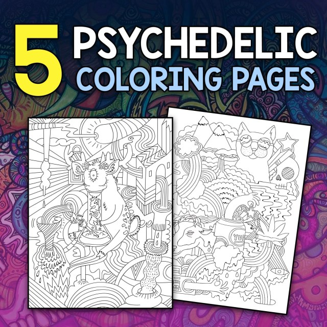 29 Trippy Stoner Coloring Pages - An Out of this World Psychedelic Set of  Coloring Pages For Stoners Instant Download Printable Art Book