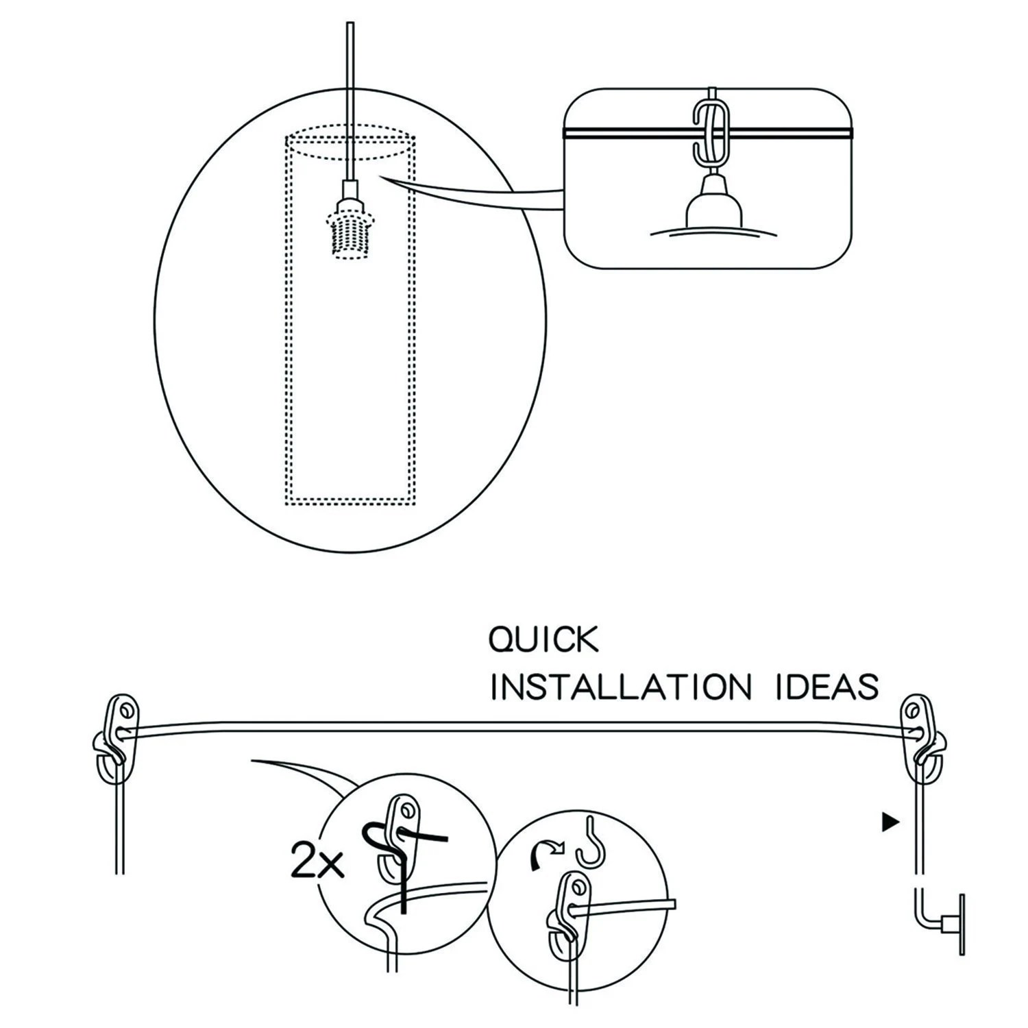 Ul Listed 12ft E26 E27 Hanging Light Socket With Gear