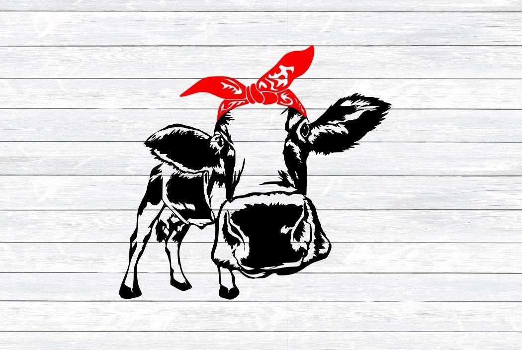 Cow Bandana Files Free Svg