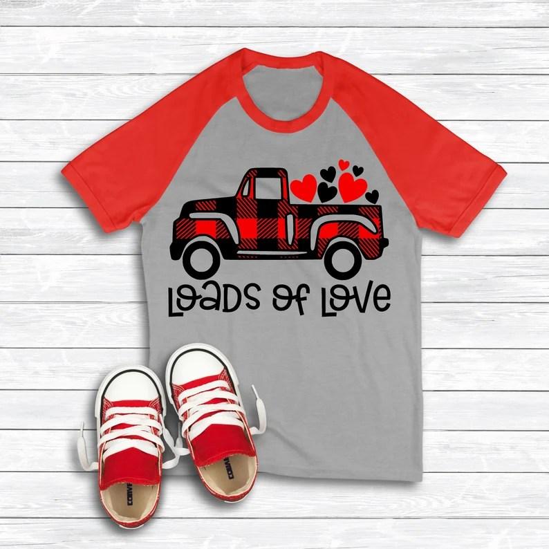 Download Loads of Love Truck Svg Valentine's Day Boy Valentine | Etsy