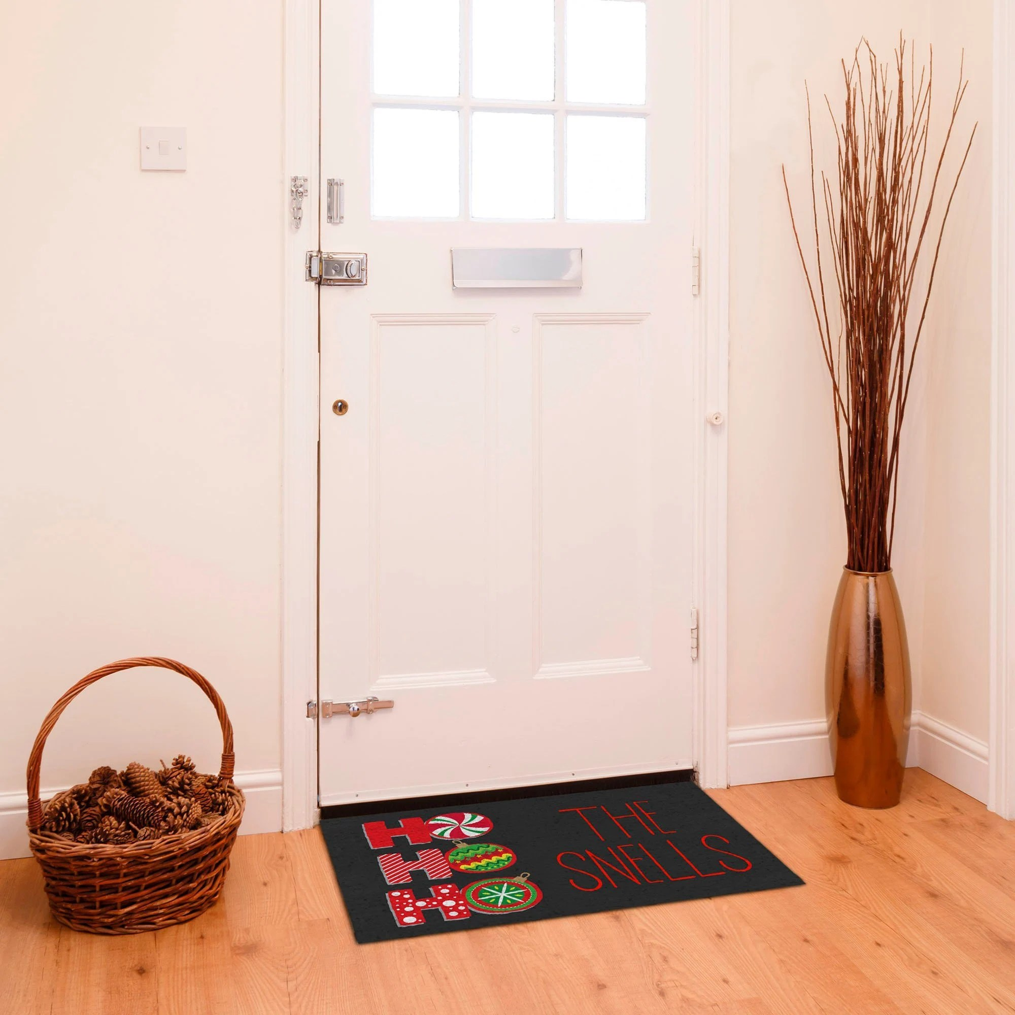 Custom Christmas Welcome Rug Personalized Christmas Holiday Decor Indoor Holiday Welcome Mat Christmas Kitchen Mat Custom Christmas Mat