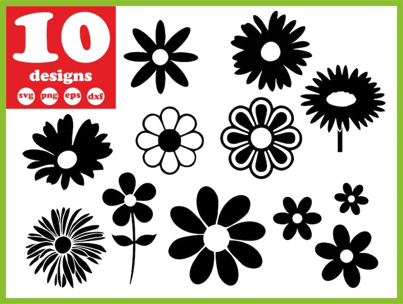 Download Daisy svg file Flower vector Leaves decal for cricut ...