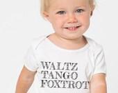 Waltz Tango Foxtrot Baby one piece Infant One Piece Bodysuit Baby Shower Dance Gift  | Baby Swag by Swing Swag