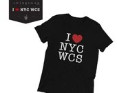 T-shirt: I Love NYC West Coast Swing; I Heart NYC WCS, Dance Tee   Unisex Swing Swag