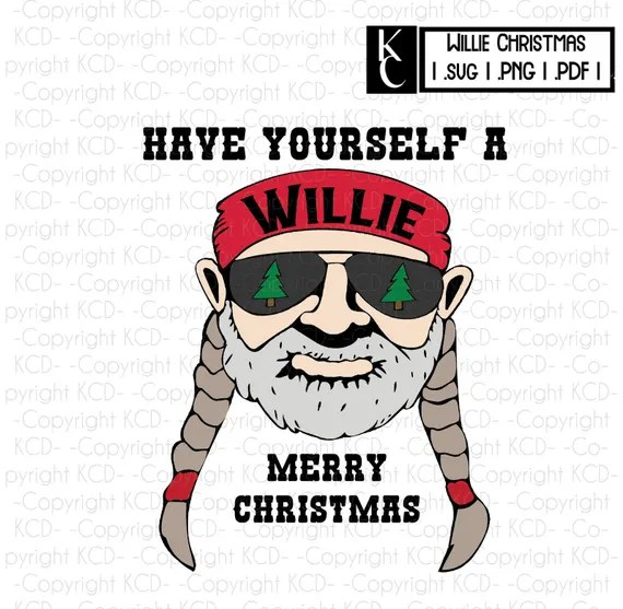 Download Willie Merry Christmas png svg pdf Willie Nelson Clipart ...