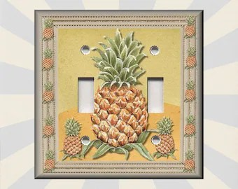 Pineapple switch   Etsy Metal Light Switch Plate Cover   Pineapple Home Decor Kitchen Pineapple  Decor Kitchen Decor   Wallplates Outlets Rocker   Free Shipping