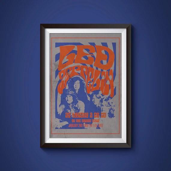 led zeppelin concert poster led zeppelin poster led zeppelin art led zeppelin wall art whisky a go go