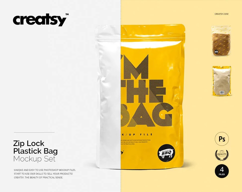 1255 plastic packaging mockup 33 different plastic packaging psd and vector design template packaging is an important marketing and branding instrument and there is hardly any suitable alternative of plastic packaging for some of the products. Zip Lock Plastic Bag Mockup Set Bag Template Plastic Bag Etsy