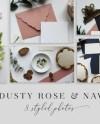 Dusty Rose Styled Stock Photos Stock Bundle Stationery Etsy