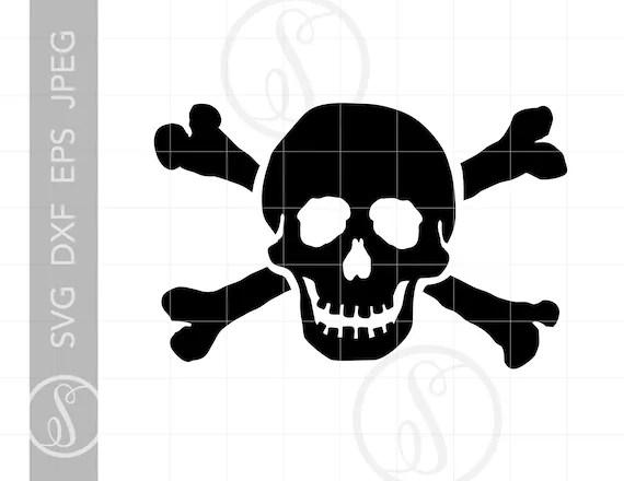 Skull Crossbones Svg Skull Crossbones Clipart Skull Etsy