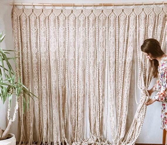 macrame curtain macrame panels door curtain room divider macrame window curtain boho curtains