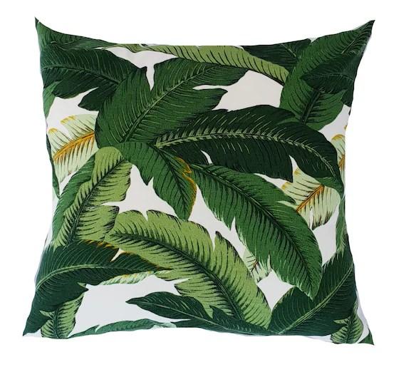 outdoor cushions green banana leaf cushion palm leaf cushions outdoor pillows tropical pillows scatter cushions tropical seat pillows