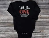Wild & One First Birthday, 1st Birthday Buffalo Plaid Outfit, Wild and One Lumberjack Outfit, Baby Brother Bodysuit, Matching Family Shirts