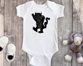 I'll Eat You Up I Love You So Bodysuit, Where The Wild Things Are Shirt, Newborn Baby Outfit, Baby Shower Gift, Take Home Outfit