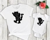 Set of 2, Mommy and Me Outfits, I'll Eat You Up I Love You So, Matching daddy and me shirt set, mama & me, mom and daughter, mom and son
