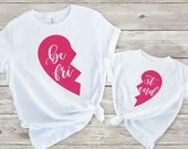 Set of 2, Mommy and Me Outfits, Best Friends Matching Shirts, Sibling Matching Shirts, Best Friends Matching Shirt Set, Family Shirt Set