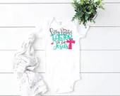 Silly Rabbit Easter is for Jesus Baby Outfit, Baby Girl Easter Outfit, Baby Boy Easter Outfit, Newborn Coming Home