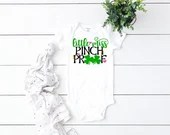 Little Miss Pinch Proof St. Patrick's Day Outfit, Baby Girl St. Patty's Day, Girl St. Patrick's Day Outfit, Newborn Coming Home