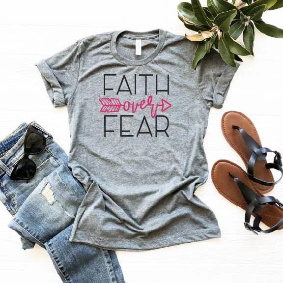 Faith Over Fear Shirt, Fa...